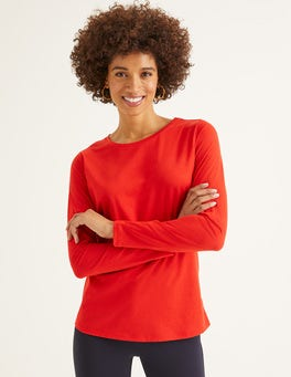 Post Box Red Supersoft Long Sleeve Tee