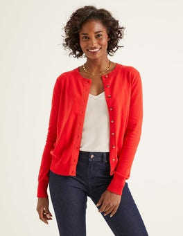 Post Box Red Amelia Crew Cardigan