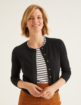 Black Amelia Crop Cardigan