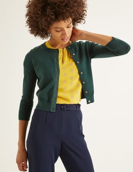 Midnight Green Amelia Crop Cardigan
