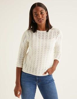 Naturweiß Amelie Pullover