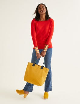 Post Box Red Cassandra Sweater