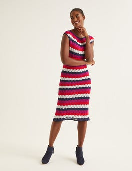 Navy Multi Stripe Opal Dress