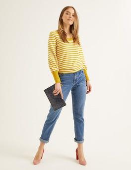 Ivory/Saffrom Stripe Bernice Sweater