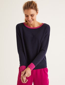 Navy Lucille Sweater