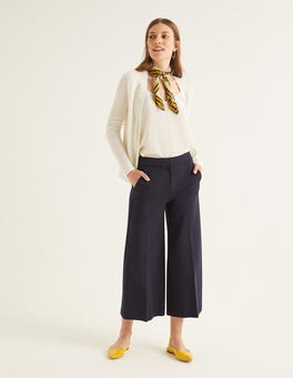 Navy Hampshire Culottes aus Ponte-Roma-Jersey