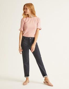 Grey Slim Straight Jeans