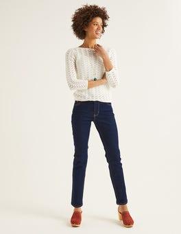 Indigo Slim Straight Jeans