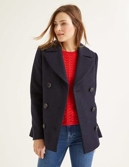 Navy Seacole Pea Coat