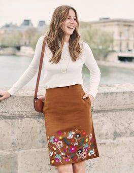 Olivia Embroidered Mini Skirt