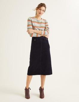Navy Natalie Midi Skirt