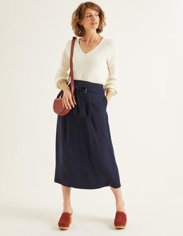 Navy Becky Skirt