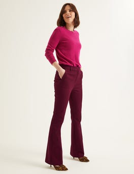 Ruby Ring Bath Bi-Stretch Flare Trousers