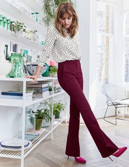Bath Bi-Stretch Flare Pants