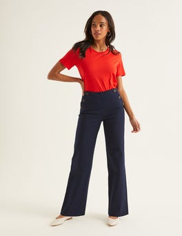 Navy Imogen Trousers