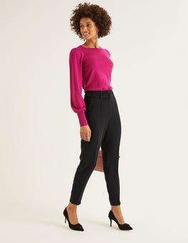 Black Christina Belted Trousers