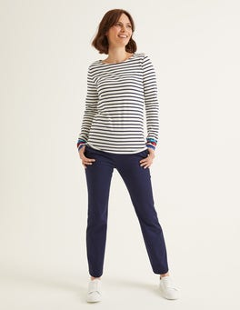 Navy Bath Bi-Stretch 7/8 Trousers