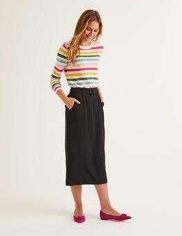 Black Christina Belted Skirt