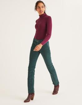 Woodland Green Cord Slim Straight Jeans
