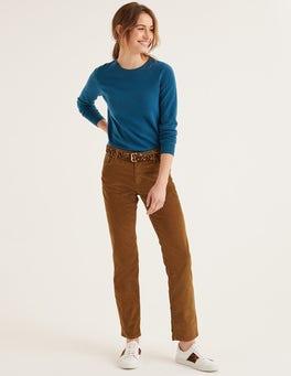 Lebkuchen Schmale Cord-Jeans mit geradem Bein