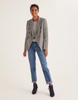 Grey, Pink Overcheck Addlestone Tweed Blazer