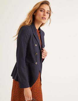 Navy Addlestone Tweed Blazer