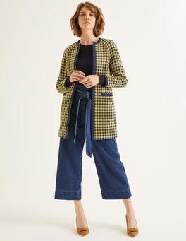 Yellow/Navy Check Eliot Coat