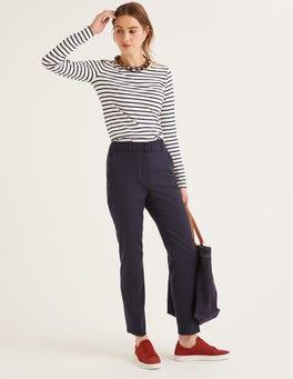 Navy Malden Tweed Trousers