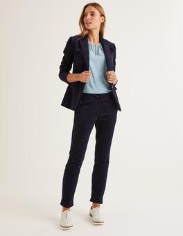 Bleu marine Pantalon Chawton en velours côtelé