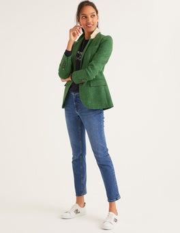 Grün, FischgrätmusterWollstonecraft Tweed-Blazer