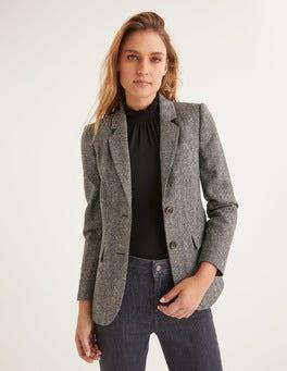 Charcoal Herringbone Smyth Tweed Blazer