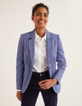Bright Blue Herringbone Smyth British Tweed Blazer