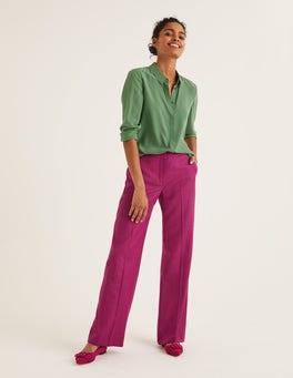 Fuscia Herringbone British Tweed Pants