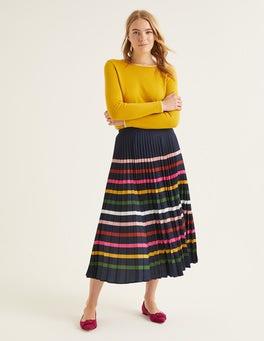 Navy Multi Stripe Camille Skirt