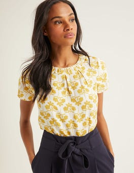 Saffron Petal Sprig Carey Top