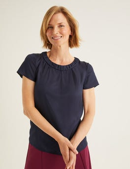 Navy Carey Top