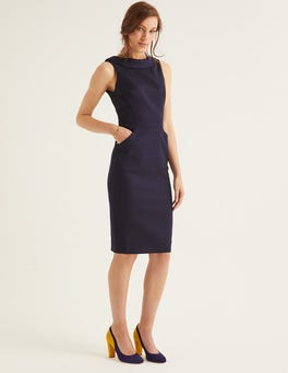 Navy Seam Detail Martha Dress