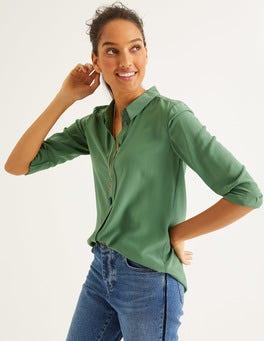 Ackerbohnengrün Das Seidenhemd
