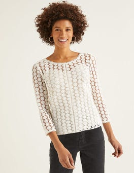 Ivory Arabella Lace Top