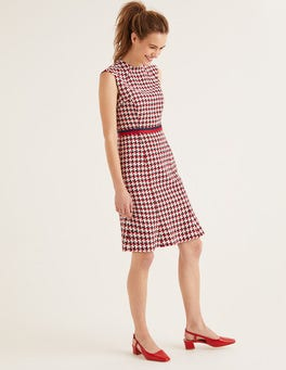 Navy and Red Windmill Ayla Tweed Dress