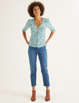 Heritage Blue, Painted Daisy Libby Top