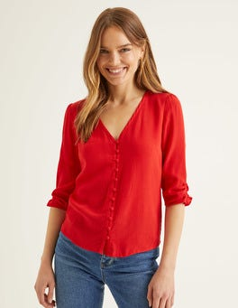 Post Box Red Libby Top