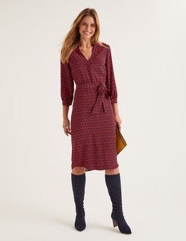Post Box Red, Ornamental Tile Florence Dress