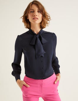Navy Thelma Blouse