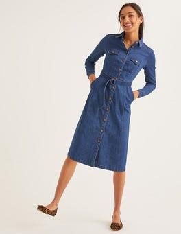 Mid Vintage Denim Lena Denim Shirt Dress