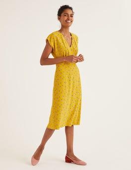 Safrangelb, Verstreute Blütenköpfe Rosemary Kleid
