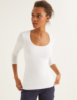 White Double Layer Front Tee
