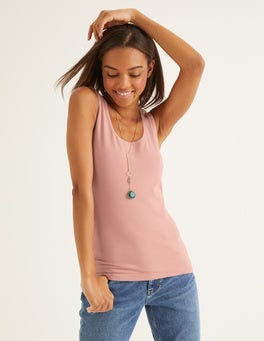 Chalky Pink Double Layer Tank