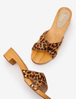 Tan Leopard Orella Clogs