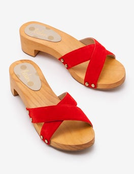 Red Pop Orella Clogs
